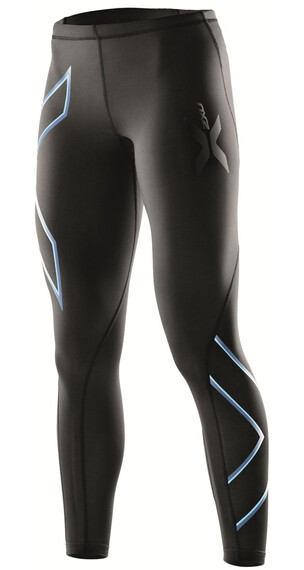 2XU W's Compression Tights Black/Amalfi logo